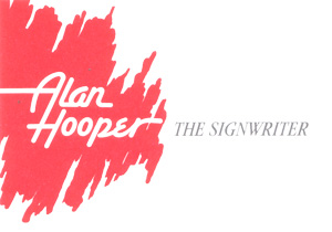 Alan Hooper the Signwriter