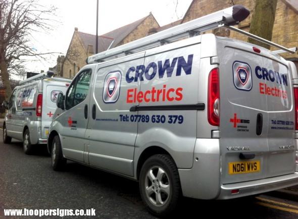 8d1bbba47326dc Crown Electrics – Van Graphics