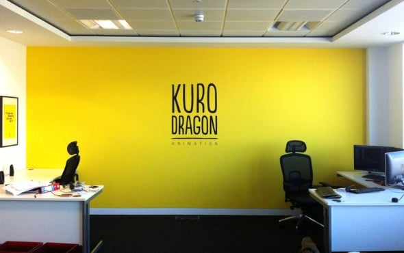 Kuro Dragon Animation feature wall.