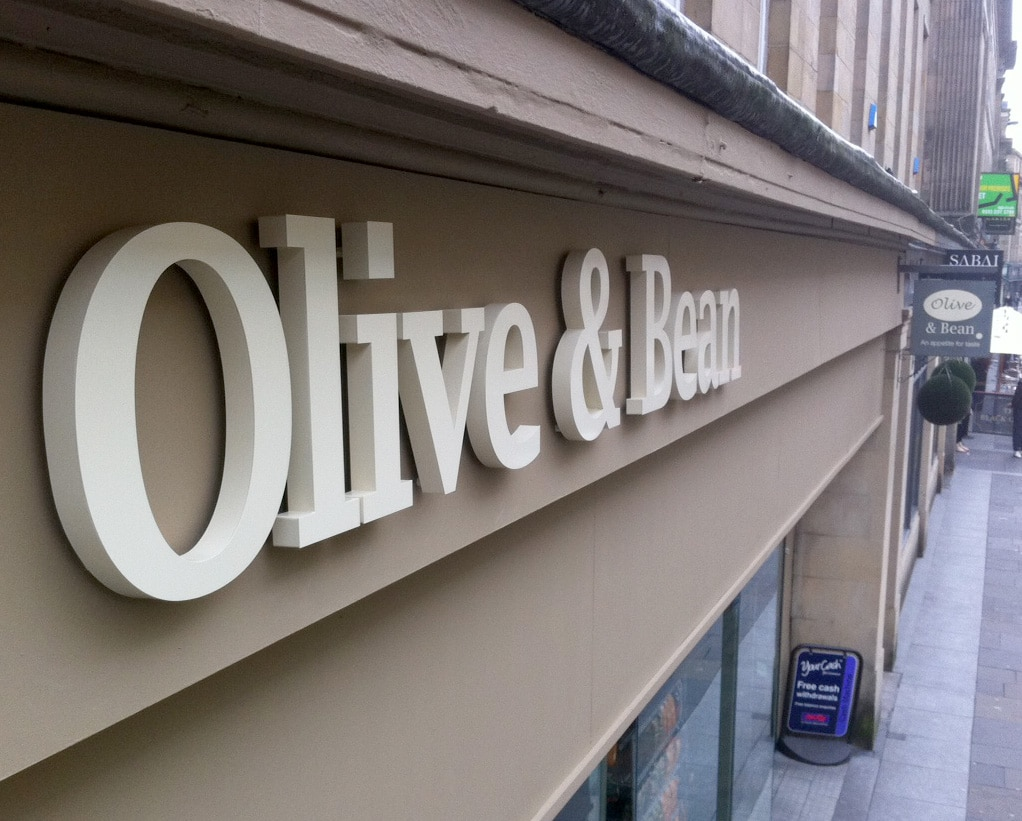 Olive Amp Bean Updated Signage