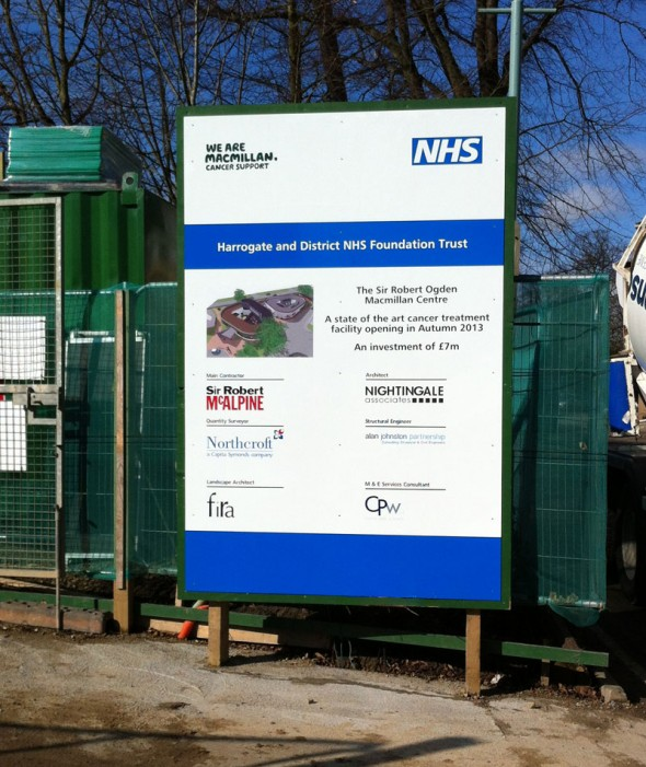 Harrowgate Hospital Site Board