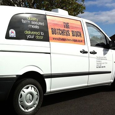 The Butchers Block Van Graphics