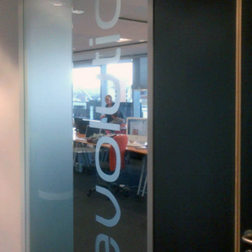 Frosted window film graphics