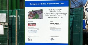 Harrowgate Hospital Site Board