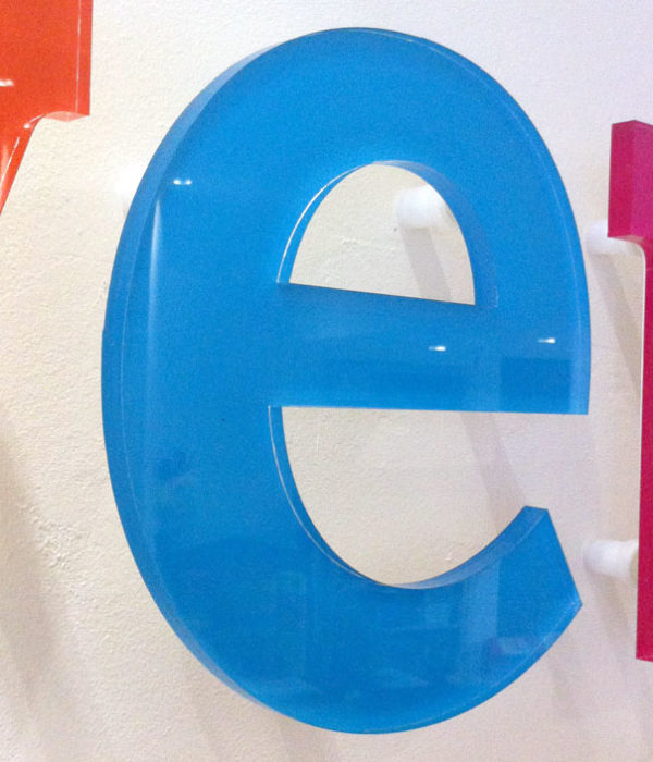 polished acrylic letters
