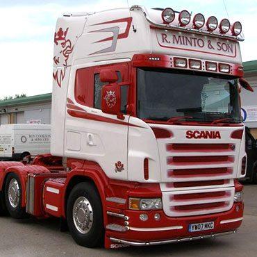 R Minto & Son Truck Graphics